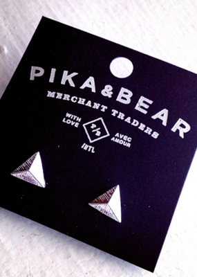 PIKA&BEAR Pika & Bear Earrings 'Isoceles' Pyramid
