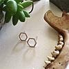 Pika & Bear Earrings 'Koffka' Hexagon