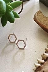 PIKA&BEAR Pika & Bear Earrings 'Koffka' Hexagon