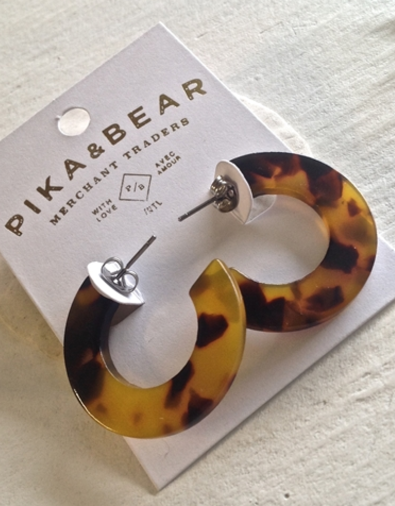 PIKA&BEAR Pika & Bear Earrings 'Mod' 3cm Acetate Hoop