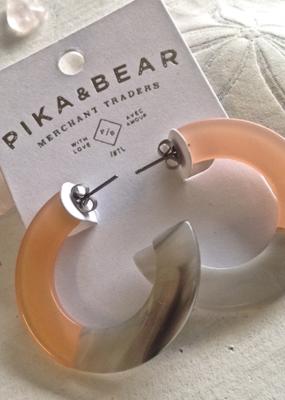 PIKA&BEAR Pika & Bear Earrings 'Mod' 4cm Acetate Hoop