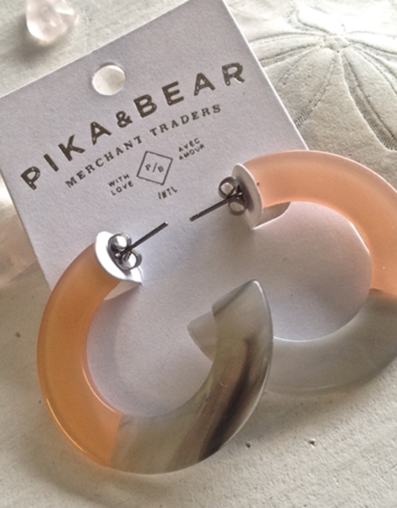 PIKA&BEAR Pika & Bear Earrings 'Mod' 4cm Acetate Hoop