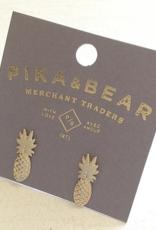 PIKA&BEAR Pika & Bear Earrings 'Aloha' Pineapple Stud