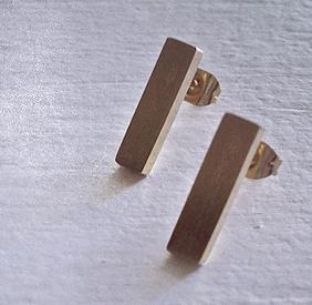 Pika & Bear Earrings 'Monolith' Minimalistic Stud
