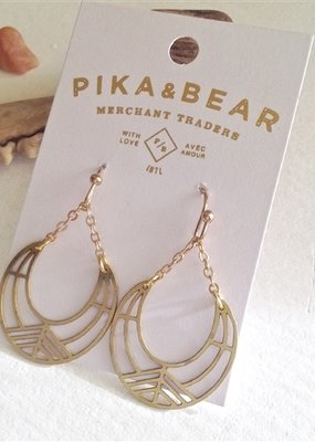 PIKA&BEAR Pika & Bear Drop Earrings 'Nokomis' Geometric Crescent