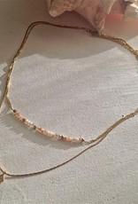 PIKA&BEAR Pika & Bear Necklace 'Diamond Dog' Double Strand Heishi Bead
