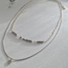 Pika & Bear Necklace 'Diamond Dog' Double Strand Heishi Bead