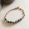 Pika & Bear Bracelet 'Indira' Ornate Brass Chain