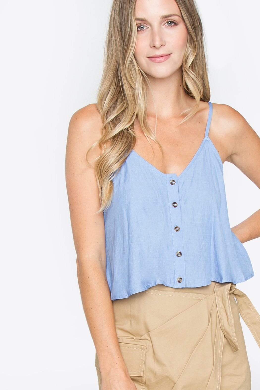 Sugarlips Cami Finley Cropped Button Up