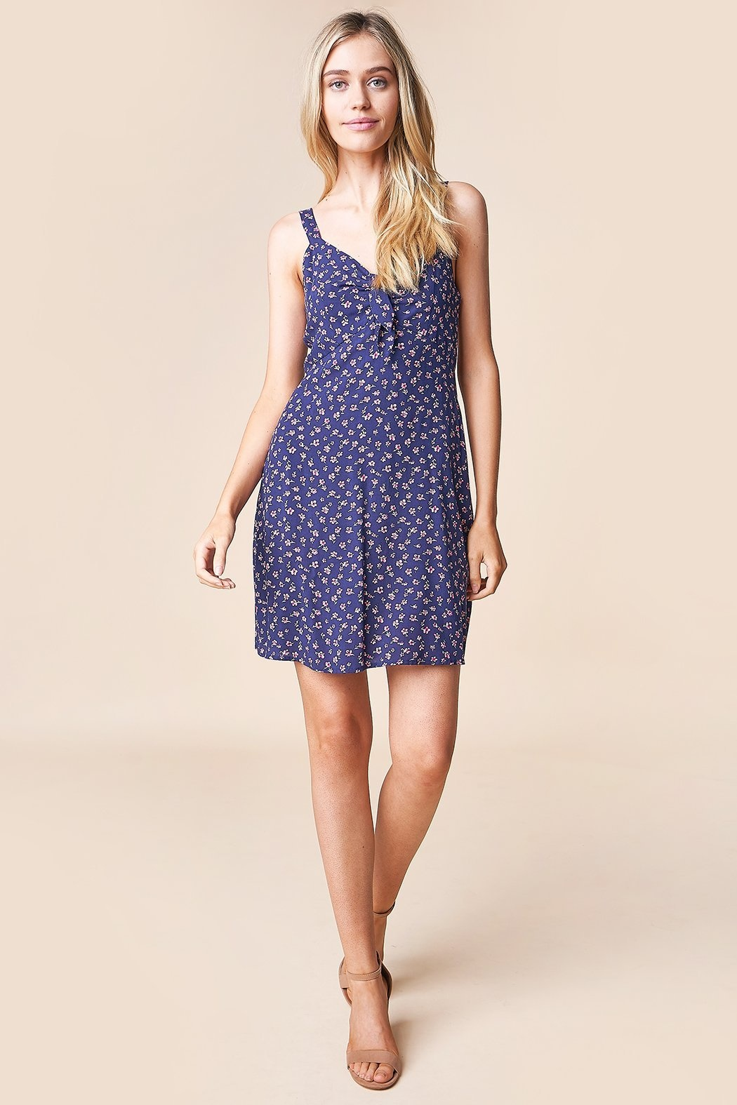 Sugarlips Dress Casablanca Slv/Less Mini w/ Chest Tie