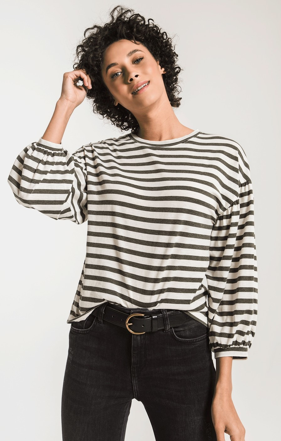 Z Supply The Canyon Stripe Peasant Tee