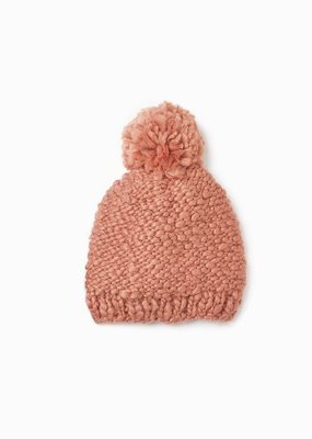 Look by M Look by M Pom Pom Beanie Basic Mango Yarn
