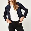 Mavi Samantha Denim Jacket w/ Gold Stitching