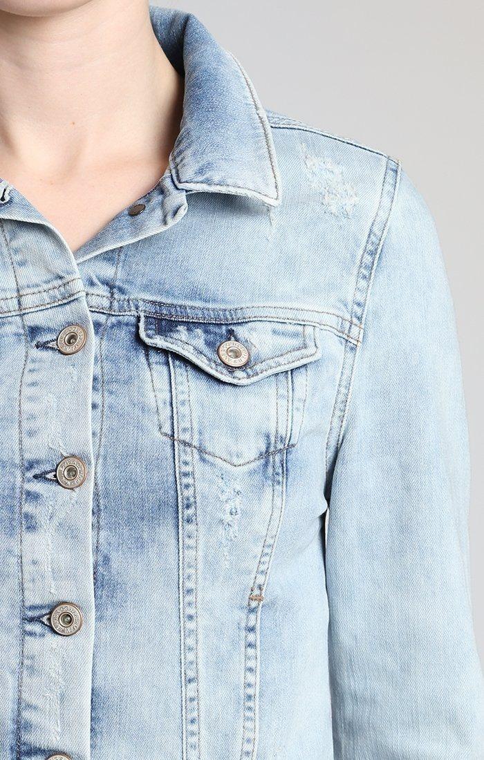 Mavi Samantha Denim Jacket w/ Light Distressing