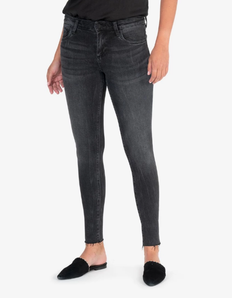 Kut from the Kloth Kut from the Kloth Connie Mid Rise Ankle Skinny W/ Raw Hem