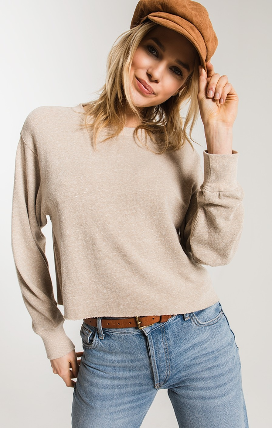 Z Supply L/S Cropped Tee