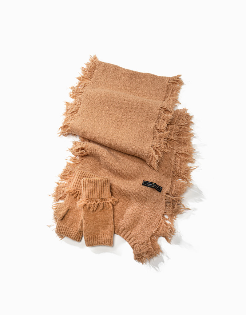 Look by M Look by M Scarf Cashmere Blended Fringe Scarf