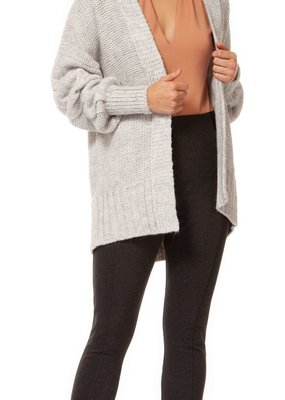 Black Tape Black Tape Cardigan Open Fly Away w/ Cinched Slvs