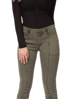 DEX Dex Pant Mid Rise w/ Front Seam & Buttoned Tabs