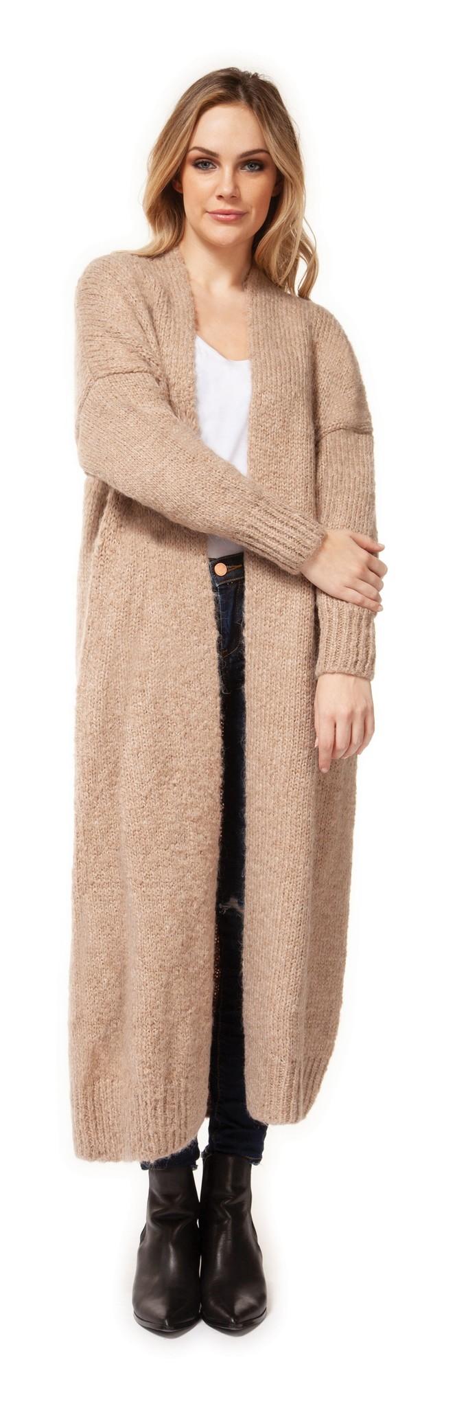 Dex Cardigan Open Longline Knit