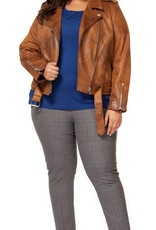 DEX Dex Plus Biker Jacket w/ Zipper Pockets & Belt
