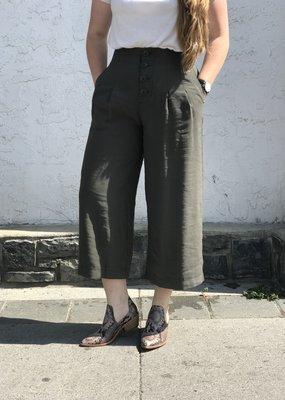Rag Poets Rag Poets High Waist Culotte Pants