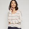 Sadie & Sage Striped L/Slv Knit Crop