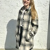 Rd Int'l Plaid Collared Button-Down Woven Coat