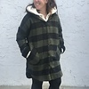 Rd Int'l Plaid Hooded Button-Down Woven Coat