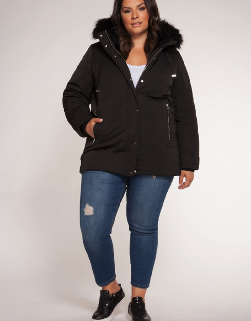 DEX Dex Plus Parka w/ Removable Faux Fur Trim