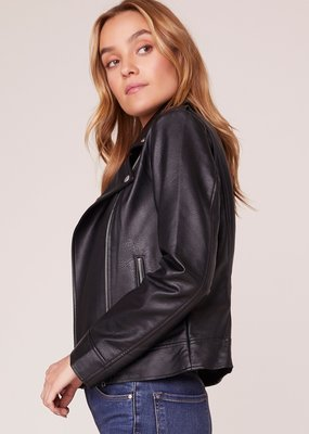 BB DAKOTA BB Dakota Moto Finish Faux Leather Jacket