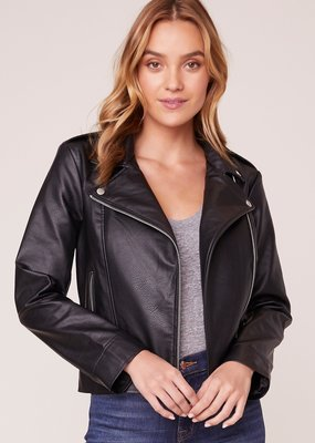 BB DAKOTA BB Dakota Moto Finish Faux Leather Jacket