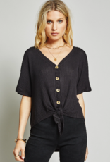 Sage The Label Sage The Label Joni Top Waffle S/S w/ Buttons