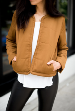 GENTLE FAWN Gentle Fawn Taurus Jacket Quilted Bomber w/ Invisible Closures