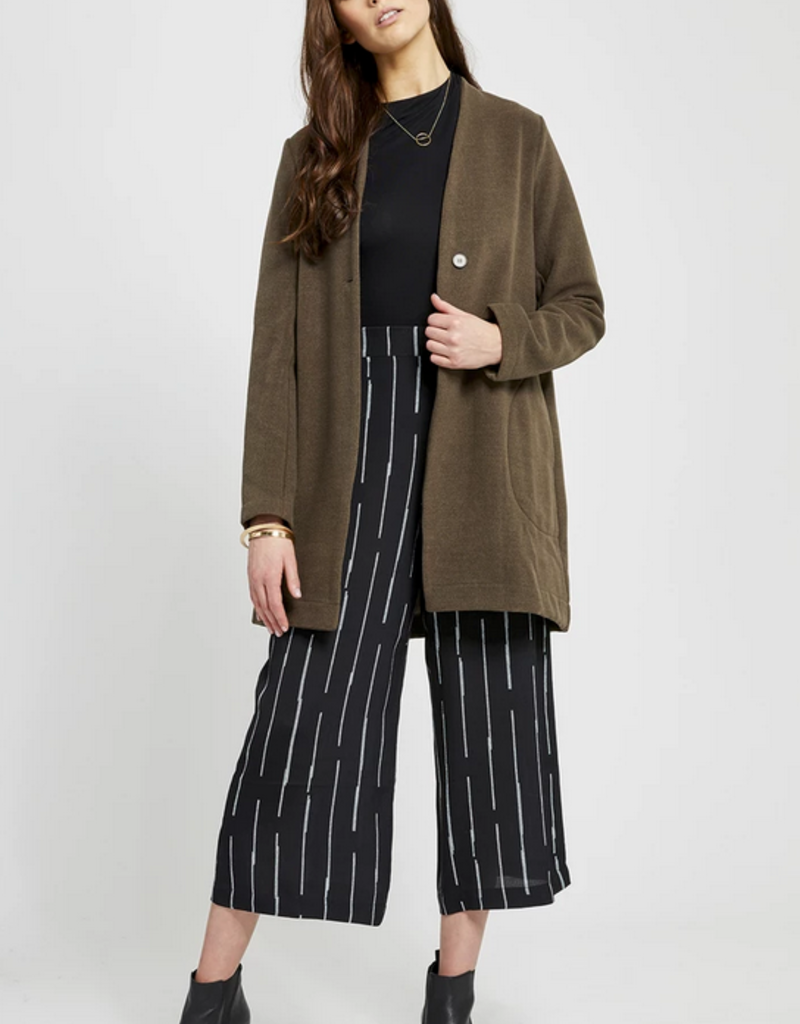 GENTLE FAWN Gentle Fawn Anouk Jacket  No Collar Single-Button Closure