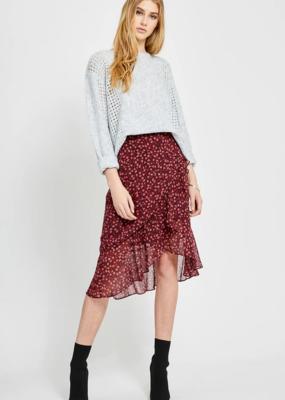 GENTLE FAWN Gentle Fawn Xena Skirt Midi w/ Asymmetrical Ruffle