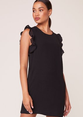 Jack JACK Pretty Young Thing Dress Slv/less Shift w/ Ruffle Shldr Detail & Pockets