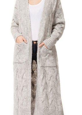 DEX Dex Cardi Longline Open Cardigan Chunky Knit