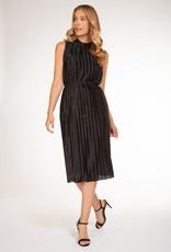 DEX Dex Dress Slv/Less Mockneck w/ Waist Tie