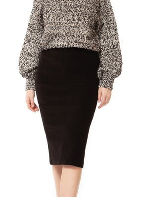 DEX Dex Skirt High Waisted Cordaroy Pencil Skirt