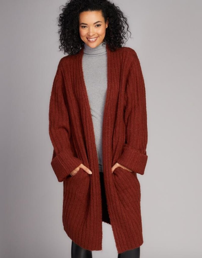 C'EST MOI C'est Moi Sweater Knit Coat w/ Ribbed Detail