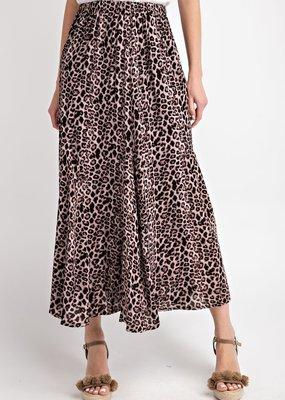 Easel Easel Leopard Print Maxi Skirt