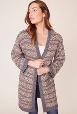 BB DAKOTA BB Dakota Cardi To Be Fair-Isle Open w/ Cropped Sleeve