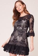 RSVP Dress Layer Cake Lace w/ Ruffles