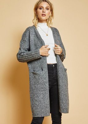 Sage The Label Sage The Label Jenna Open Cardi w/ Pockets