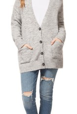 DEX Dex Cardigan L/Slv V-Neck w/ Buttons & Pockets