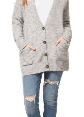 DEX Dex Cardigan L/Slv V-Neck w/ Buttons & Pockets