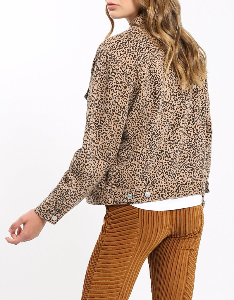 BRUNETTE BRUNETTE Leopard Denim Jacket