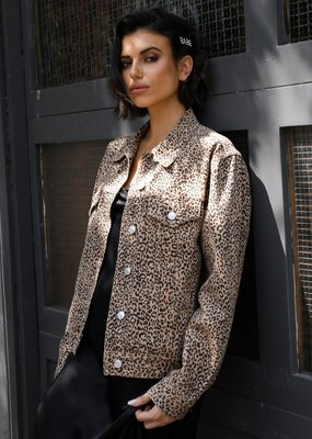 BRUNETTE BRUNETTE Leopard Denim Jacket