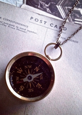 PIKA&BEAR Pika & Bear Brass Compass Necklace